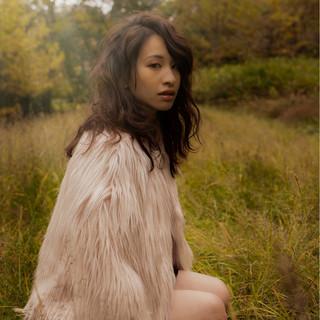 小顔 外国人風 大人女子 セミロング ヘアスタイルや髪型の写真・画像