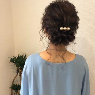 ヘアアレンジ アップ フェミニン アップスタイル ヘアスタイルや髪型の写真・画像