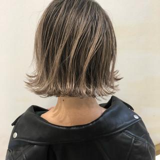 外国人風 バレイヤージュ ボブ 外国人風カラー ヘアスタイルや髪型の写真・画像