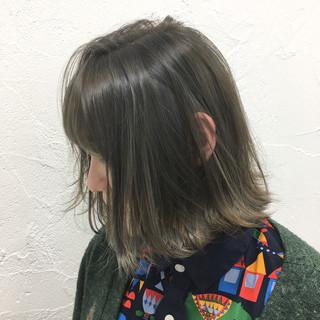 前髪あり デート 大人かわいい ナチュラル ヘアスタイルや髪型の写真・画像