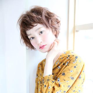 外国人風 ショートボブ 簡単 パーマ ヘアスタイルや髪型の写真・画像