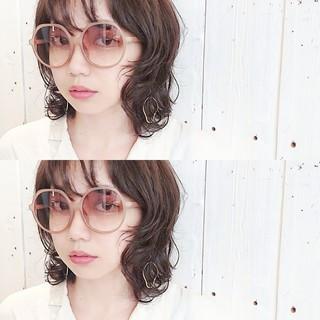 ミディアム マッシュ モード パーマ ヘアスタイルや髪型の写真・画像