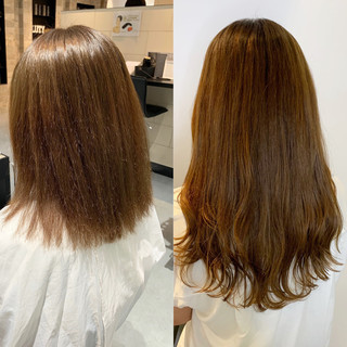 ヘアカラー ゆるふわ 前髪エクステ ナチュラル ヘアスタイルや髪型の写真・画像