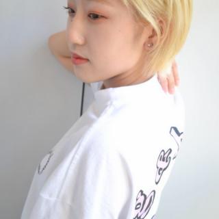 ハイトーン ブリーチカラー ダブルカラー ハイトーンカラー ヘアスタイルや髪型の写真・画像