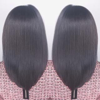 ロング ナチュラル ミルクティー グラデーションカラー ヘアスタイルや髪型の写真・画像