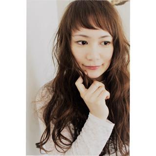 外国人風 抜け感 ロング アンニュイ ヘアスタイルや髪型の写真・画像