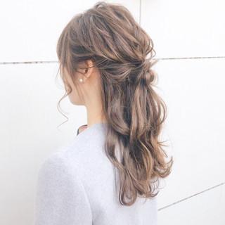 結婚式 ナチュラル 簡単ヘアアレンジ デート ヘアスタイルや髪型の写真・画像
