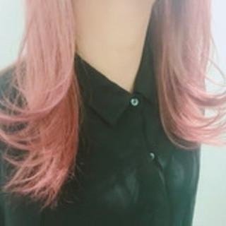 ロング 外国人風 ダブルカラー ブリーチ ヘアスタイルや髪型の写真・画像