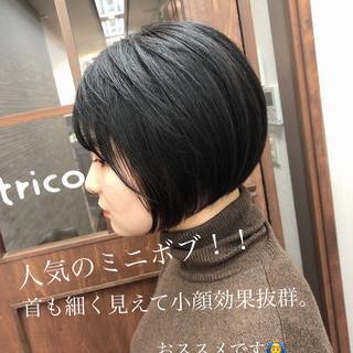 ミニボブ ショートボブ 小顔ショート ショートヘア ヘアスタイルや髪型の写真・画像