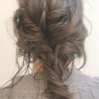ヘアアレンジ ショート ナチュラル アッシュ ヘアスタイルや髪型の写真・画像