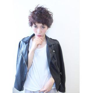 ニュアンス ショート 黒髪 ストリート ヘアスタイルや髪型の写真・画像