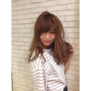コンサバ ロング 丸顔 モテ髪 ヘアスタイルや髪型の写真・画像