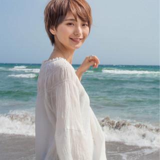 ショート 外国人風 小顔 大人かわいい ヘアスタイルや髪型の写真・画像