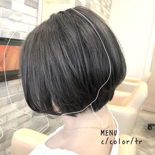 ナチュラル 前髪 縮毛矯正 ストレート ヘアスタイルや髪型の写真・画像
