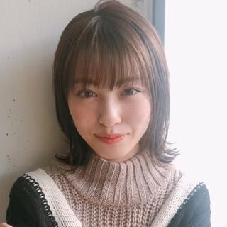 ミディアム デート 大人かわいい アンニュイほつれヘア ヘアスタイルや髪型の写真・画像