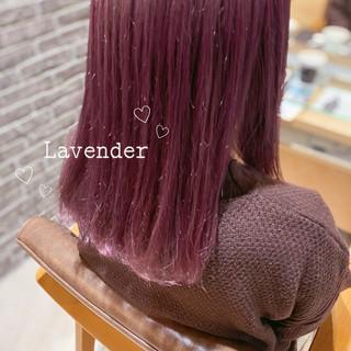 ラベンダーアッシュ ラベンダーピンク ラベンダーカラー ピンクラベンダー ヘアスタイルや髪型の写真・画像