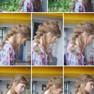 ガーリー 外国人風 ヘアアレンジ ロング ヘアスタイルや髪型の写真・画像