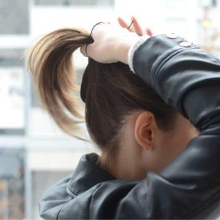 ショート 巻き髪 簡単ヘアアレンジ ポニーテール ヘアスタイルや髪型の写真・画像