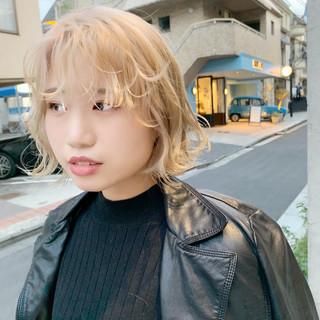 ハイトーン ストリート 外国人風カラー ボブ ヘアスタイルや髪型の写真・画像