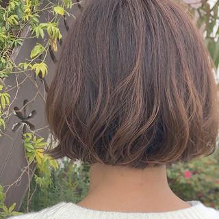 モテボブ まとまるボブ ナチュラル 毛先パーマ ヘアスタイルや髪型の写真・画像