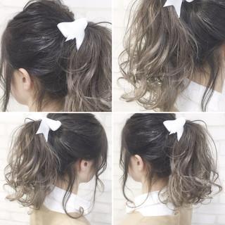 ショート ガーリー ミディアム アッシュ ヘアスタイルや髪型の写真・画像
