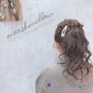 ヘアアレンジ 簡単ヘアアレンジ お呼ばれヘア デート ヘアスタイルや髪型の写真・画像