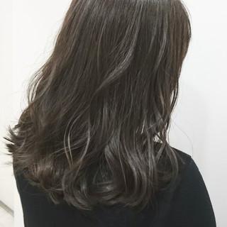 ナチュラル イルミナカラー ラベンダーアッシュ 秋 ヘアスタイルや髪型の写真・画像