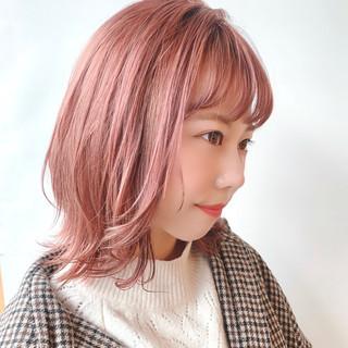 デート シースルーバング ガーリー かわいい ヘアスタイルや髪型の写真・画像