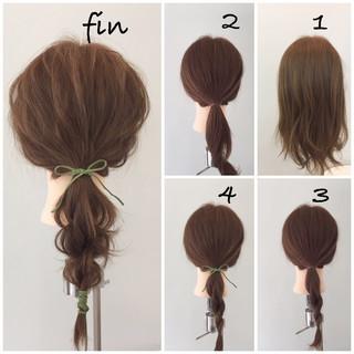 ショート 簡単 ポニーテール 簡単ヘアアレンジ ヘアスタイルや髪型の写真・画像