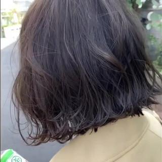 透明感カラー 春ヘア デート ボブ ヘアスタイルや髪型の写真・画像