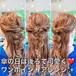 ヘアセット ヘアアレンジ ロング フェミニン ヘアスタイルや髪型の写真・画像