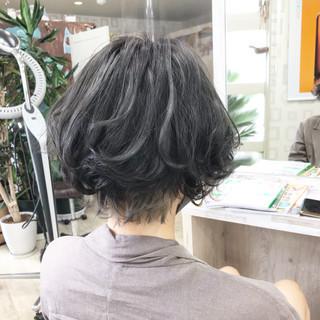 切りっぱなしボブ ベリーショート ショート ショートボブ ヘアスタイルや髪型の写真・画像