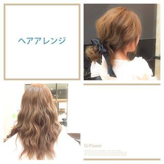 簡単ヘアアレンジ ロング ヘアアレンジ ショート ヘアスタイルや髪型の写真・画像