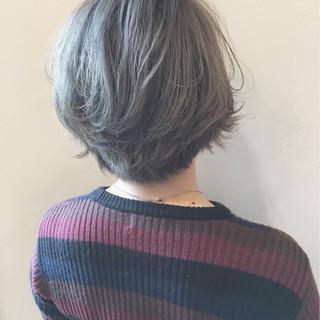 ボブ パーマ イルミナカラー ガーリー ヘアスタイルや髪型の写真・画像