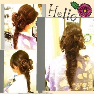 ヘアアレンジ 結婚式 アップスタイル ルーズ ヘアスタイルや髪型の写真・画像