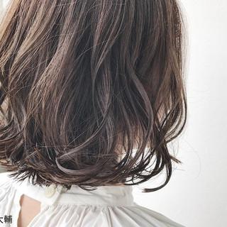 透明感 ナチュラル 秋 ボブ ヘアスタイルや髪型の写真・画像