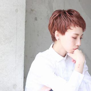 大人女子 ストリート 斜め前髪 ショート ヘアスタイルや髪型の写真・画像