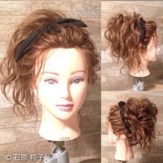 アップスタイル ヘアアレンジ 大人かわいい パーティ ヘアスタイルや髪型の写真・画像