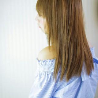 デート パーマ 大人かわいい ストレート ヘアスタイルや髪型の写真・画像