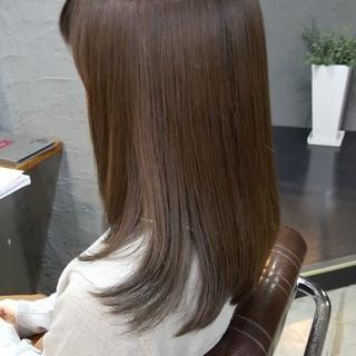 セミロング オフィス 大人かわいい 外国人風カラー ヘアスタイルや髪型の写真・画像