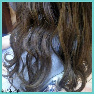 上品 外国人風 ハイライト ロング ヘアスタイルや髪型の写真・画像