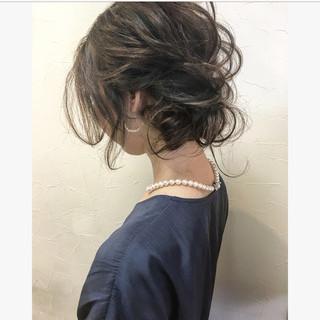 上品 結婚式 パーティ セミロング ヘアスタイルや髪型の写真・画像