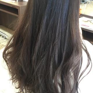 ロング アッシュ ミルクティー バイオレットアッシュ ヘアスタイルや髪型の写真・画像
