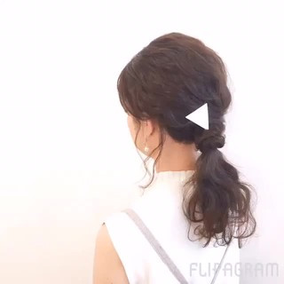 夏 ショート ヘアアレンジ ポニーテール ヘアスタイルや髪型の写真・画像