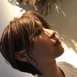 涼しげ ショート 大人かわいい オフィス ヘアスタイルや髪型の写真・画像