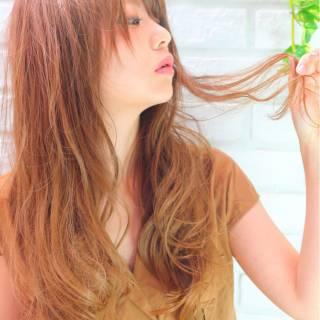 ストリート ロング 前髪あり 愛され ヘアスタイルや髪型の写真・画像