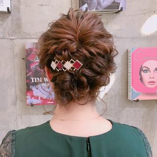 謝恩会 ミディアム 結婚式 ヘアアレンジ ヘアスタイルや髪型の写真・画像