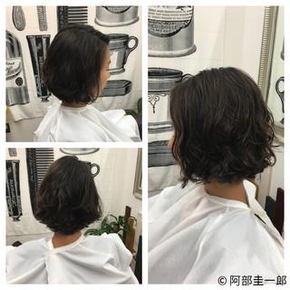 コンサバ ボブ 色気 ショート ヘアスタイルや髪型の写真・画像