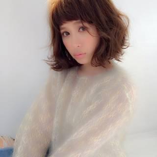 外国人風 ストレート ロング オン眉 ヘアスタイルや髪型の写真・画像
