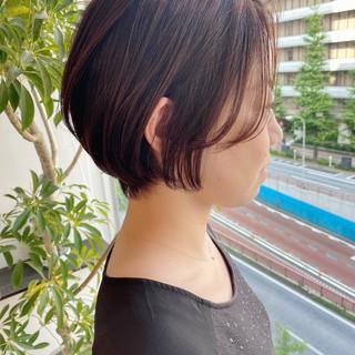 ショート デート 大人かわいい ショートヘア ヘアスタイルや髪型の写真・画像